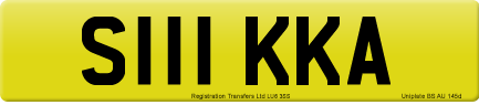 S111 KKA private number plate