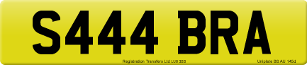 S444 BRA private number plate