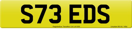S73 EDS private number plate