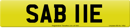 SAB 11E private number plate
