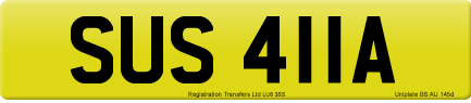 SUS 411A private number plate