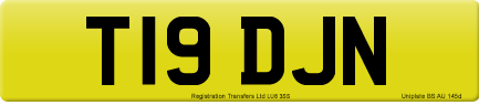 T19 DJN private number plate