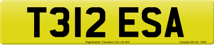 T312 ESA private number plate