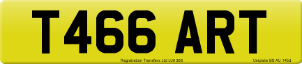 T466 ART private number plate