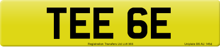 TEE 6E private number plate