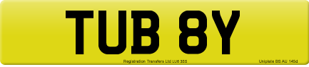 TUB 8Y private number plate