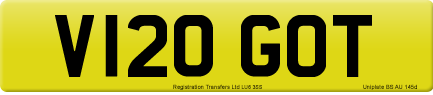 V120 GOT private number plate