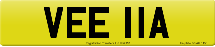 VEE 11A private number plate