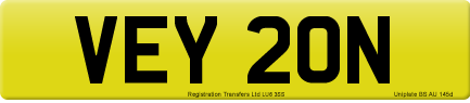 VEY 20N private number plate