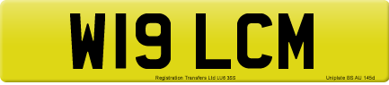 W19 LCM private number plate