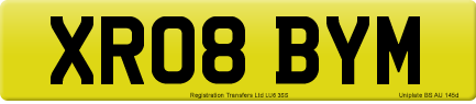 XR08 BYM private number plate