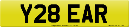 Y28 EAR private number plate