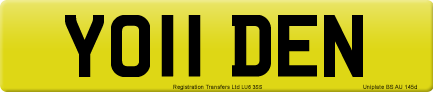 YO11 DEN private number plate