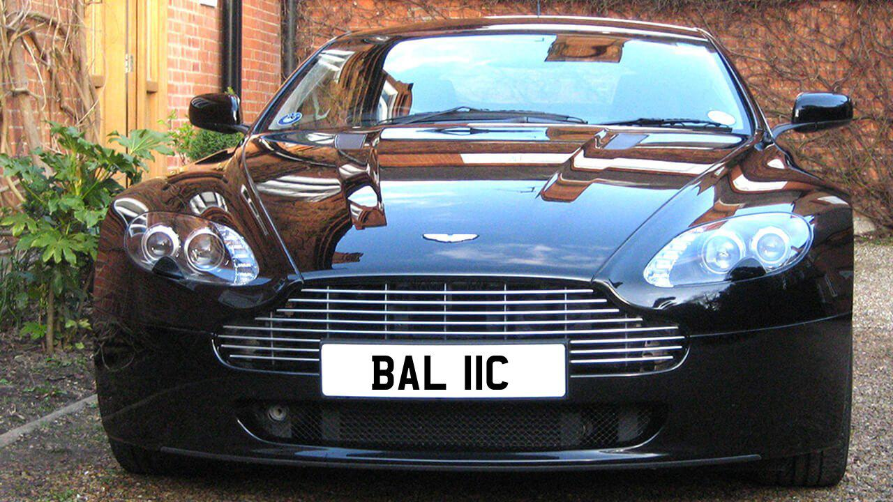 Car displaying the registration mark BAL 11C