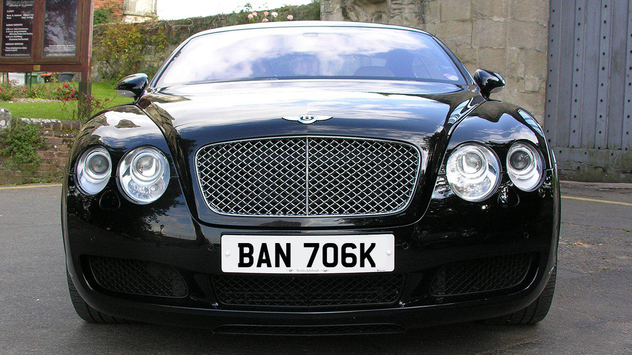 Car displaying the registration mark BAN 706K
