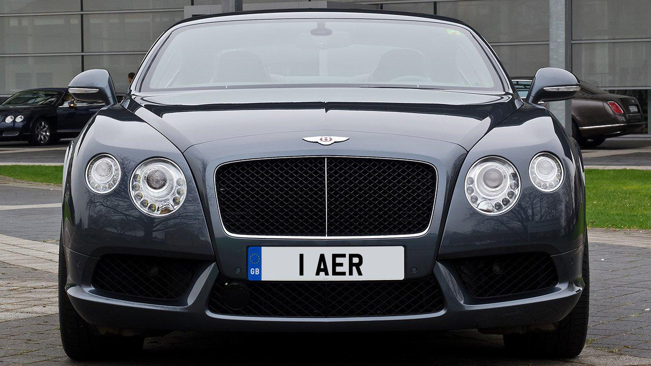 Car displaying the registration mark 1 AER