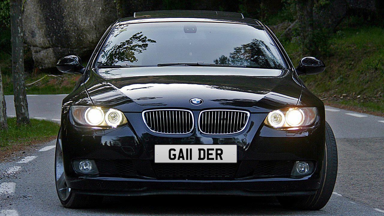 Car displaying the registration mark GA11 DER