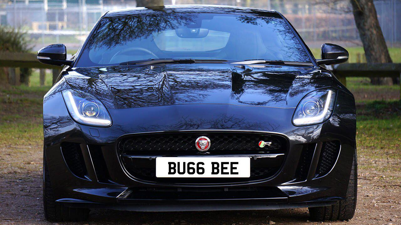 Car displaying the registration mark BU66 BEE