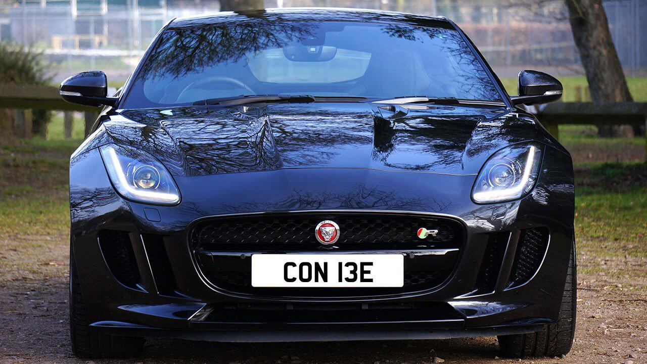 Car displaying the registration mark CON 13E