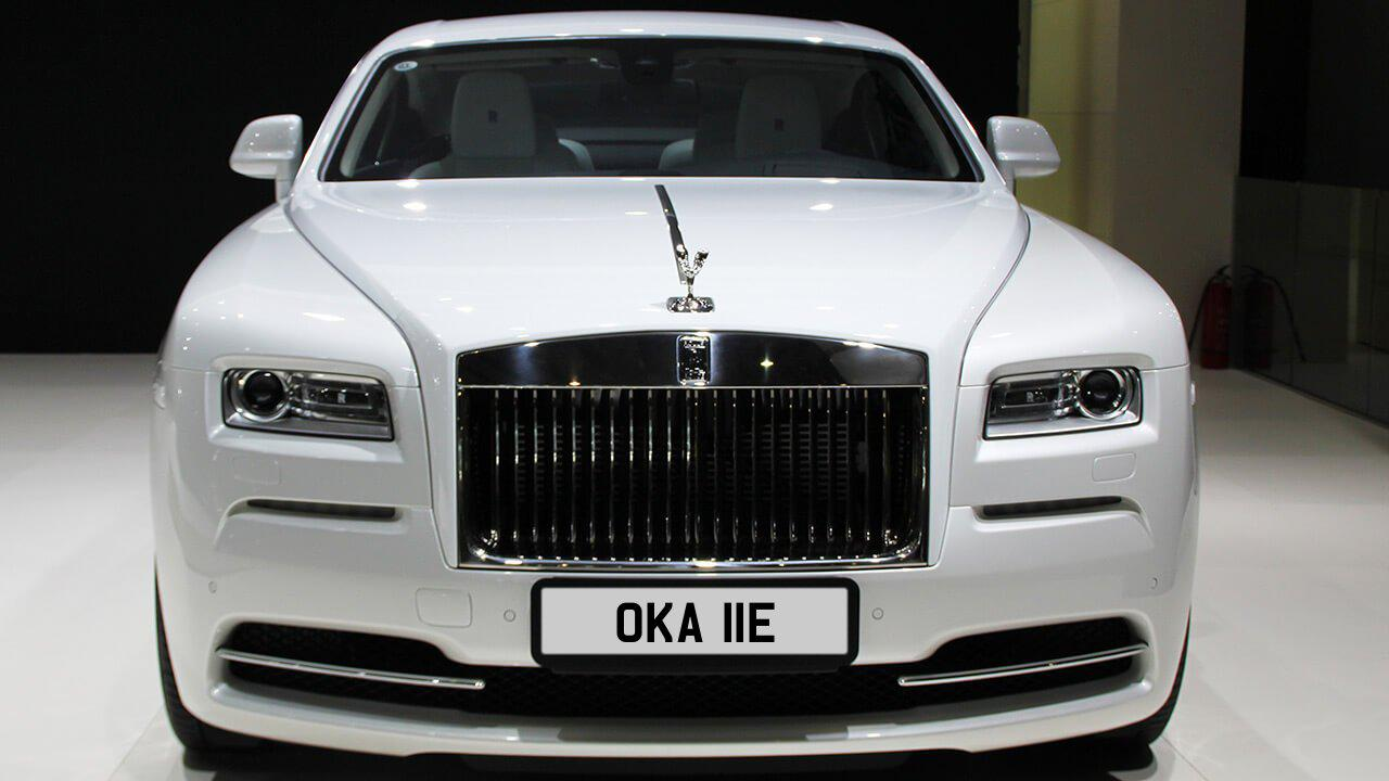 Car displaying the registration mark OKA 11E